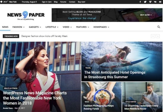 Newspaper - 31+ Top WordPress Themes For Best Adsense Optimized [year]