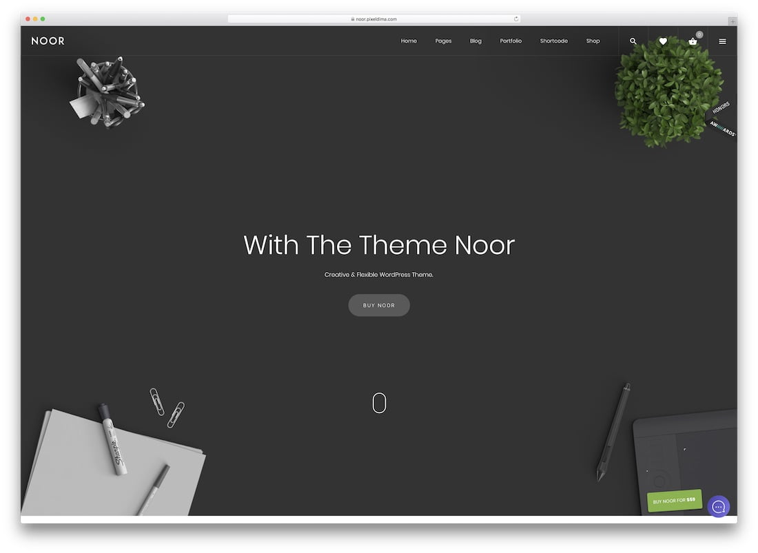 Noor - 34+ Awesome Mobile First Free & Premium AMP Themes [year]