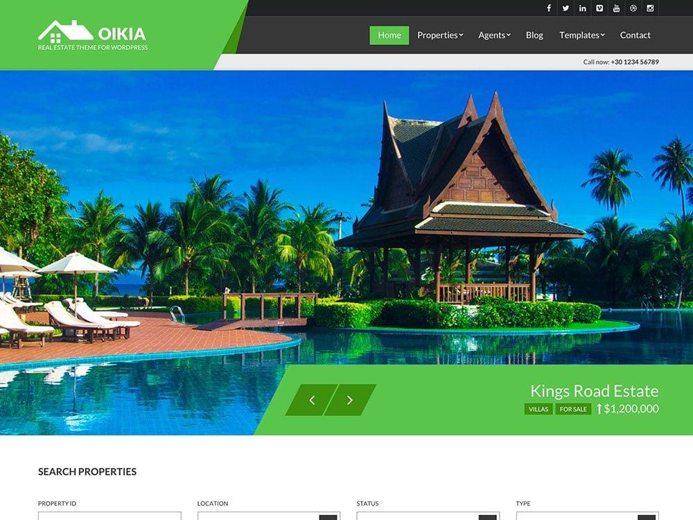 Oikia - 36+ Best WordPress Real Estate Themes [year]