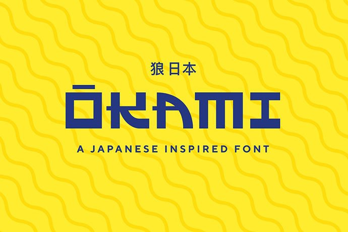 Okami - 30+ Awesome BEST Square based Geometric Fonts [year]