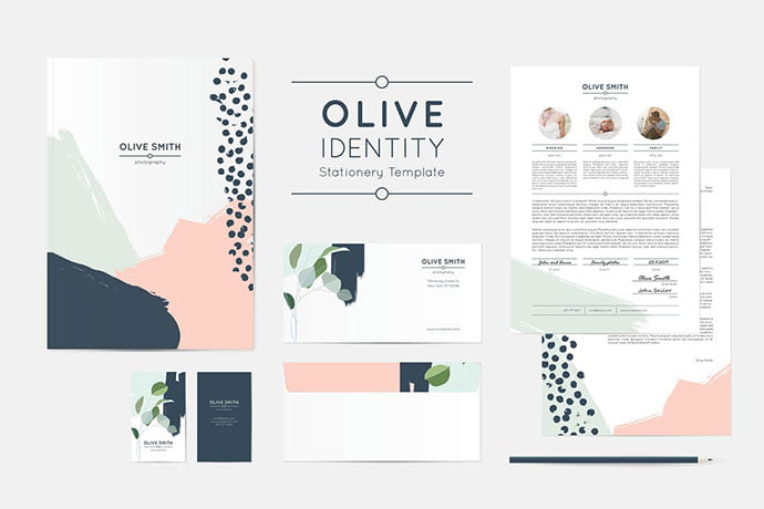 Olive-Identity - 35+ Remarkable Stationery Branding Design Templates [year]