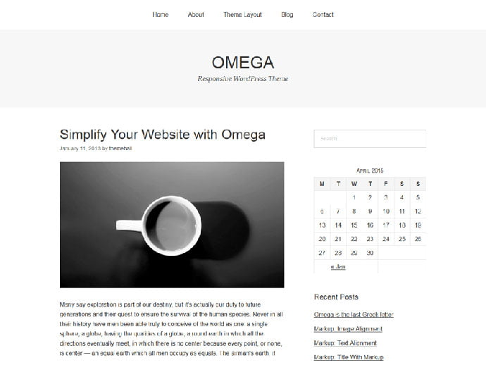 Omega-1 - 61+ Free Creating Responsive WordPress Themes [year]