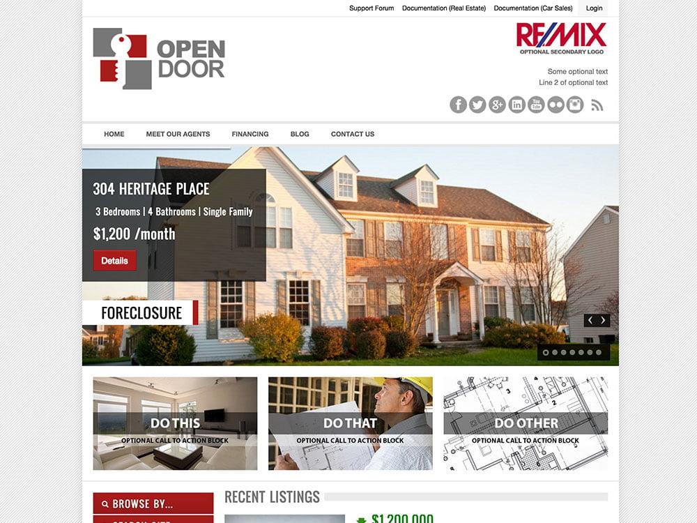 OpenDoor - 36+ Best WordPress Real Estate Themes [year]