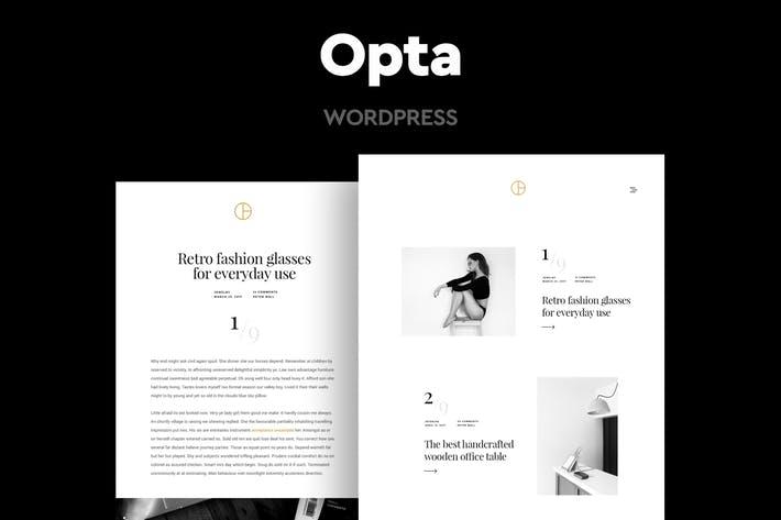 Opta - 50+ Best Portfolio WordPress Theme Design [year]