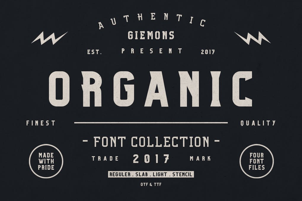 Organic-Family - 51+ All Caps Fonts For Your Unique Personality Headline Website [year]