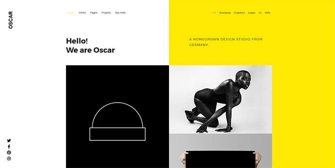 Oscar - 30+ Stunning Typography Portfolio WordPress Themes [year]