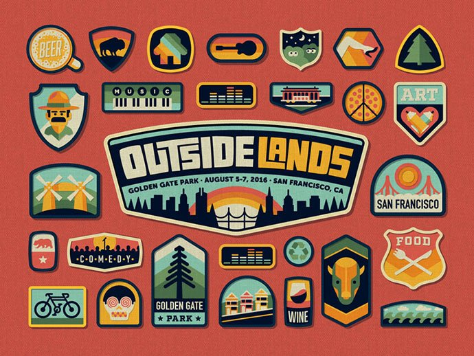 Outside-Lands-2016-Festival-Branding-by-DKNG - 50+ Fantastic BEST FREE Typographic Logo Badge Designs