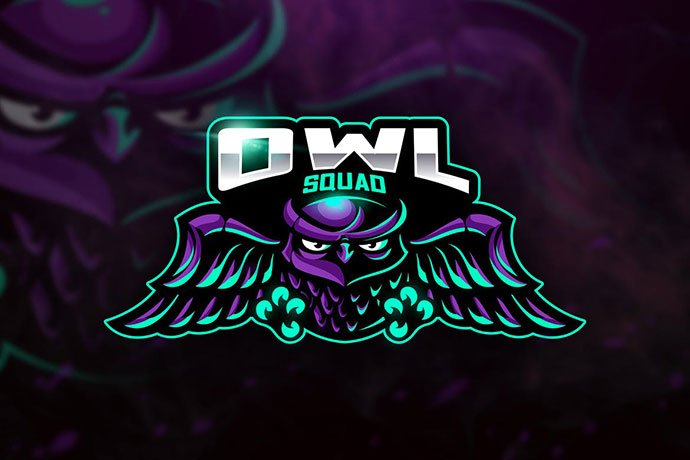 Owl-Squad - 60+ Personal & Team Branding AI & EPS eSports Logo Templates [year]