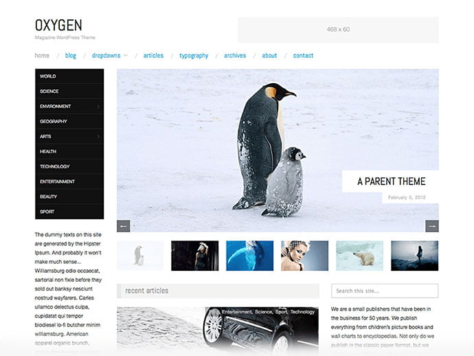 Oxygen - 61+ Free Creating Responsive WordPress Themes [year]