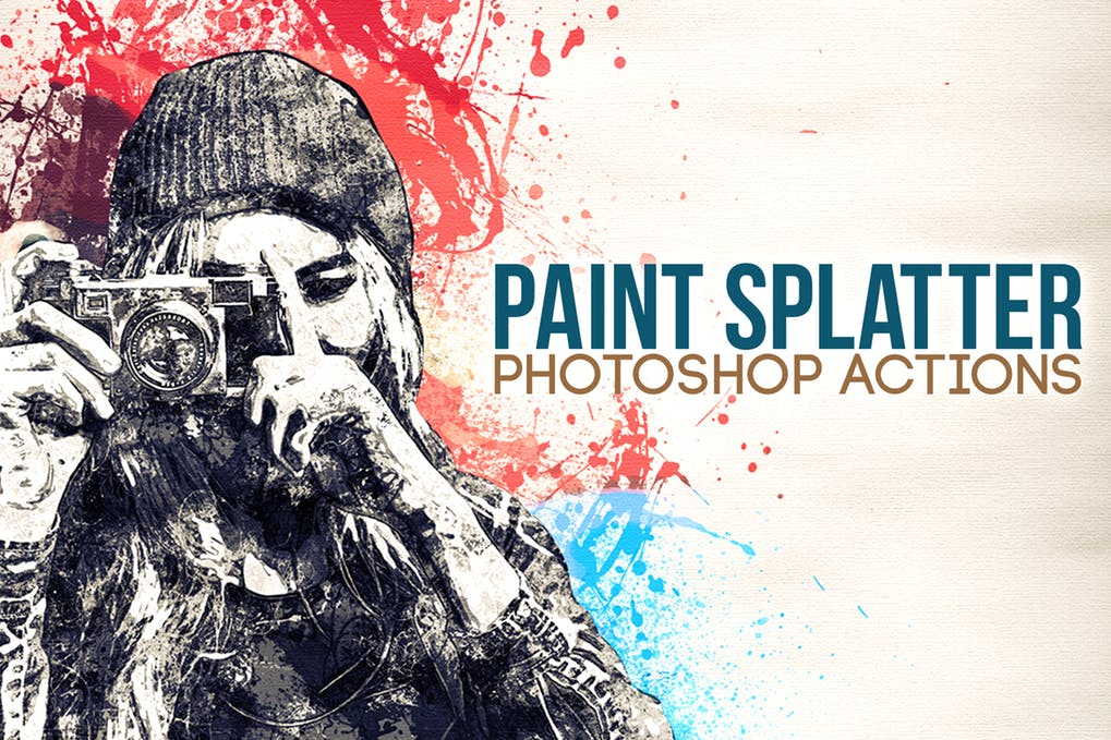 Paint-Splatter - 30+ Awesome Splatter Painting Effect Photoshop Actions [year]