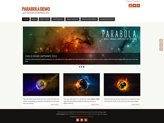 Parabola - 61+ Free Creating Responsive WordPress Themes [year]