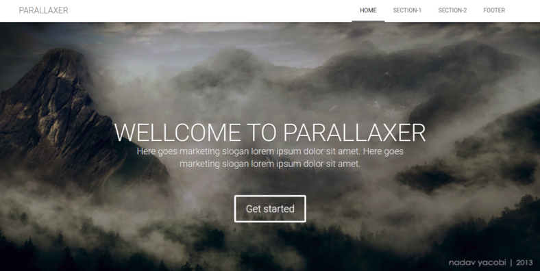 Parallaxer - 41+ Awesome Parallax Landing Page Themes [year]