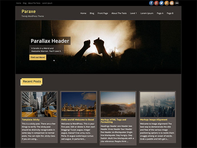 Paraxe - 61+ Free Creating Responsive WordPress Themes [year]