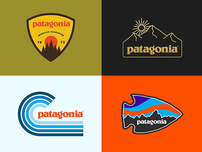 Patagonia-rejects-by-Josh-Warren - 50+ Fantastic BEST FREE Typographic Logo Badge Designs