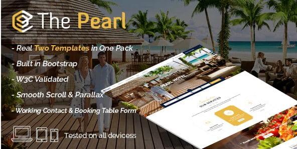 Pearl-1 - 41+ Stunning Restaurant Website HTML5 Templates [year]