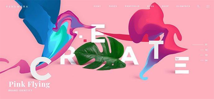 Penumbra - 31+ Impressive Big Fonts & Bright Colors WordPress Themes [year]