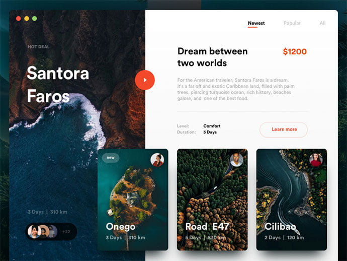 Perfect-Journey-Shop - 46+ Free Inspiration of Travel Web UI Designs [year]