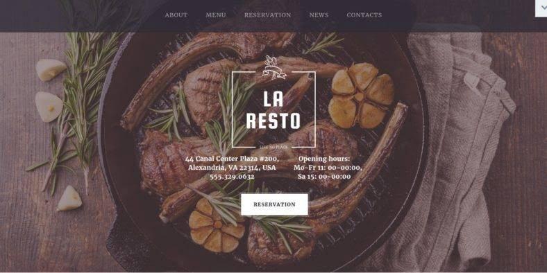 Pesto - 41+ Stunning Restaurant Website HTML5 Templates [year]