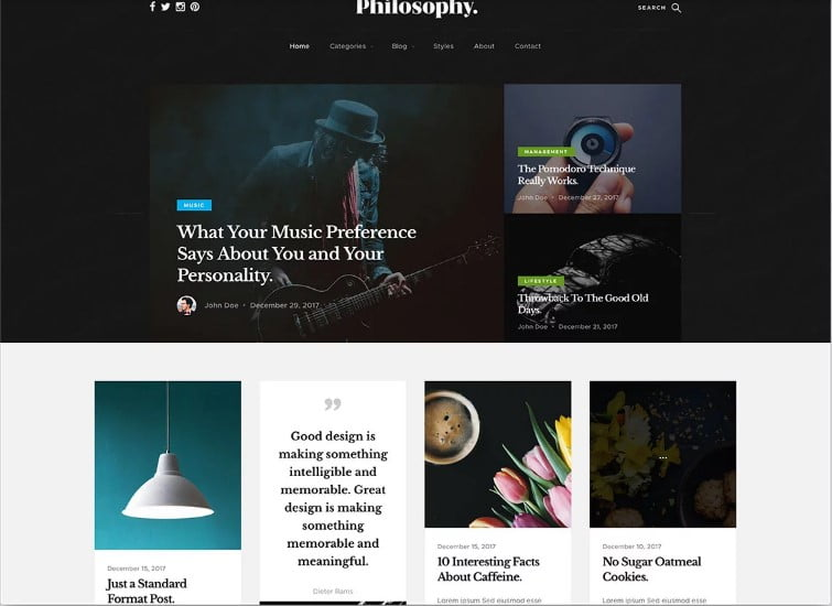 Philosophy - 77+ Best Free HTML & CSS Clean Simple Website Templates [year]