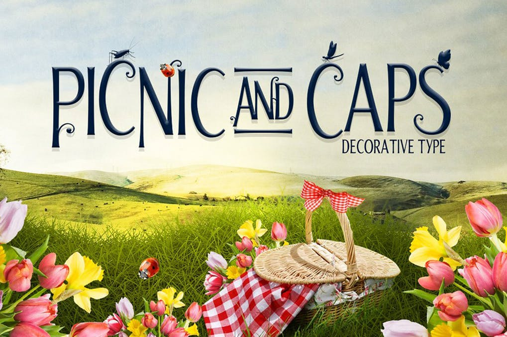 Picnic-Caps-Font - 51+ All Caps Fonts For Your Unique Personality Headline Website [year]