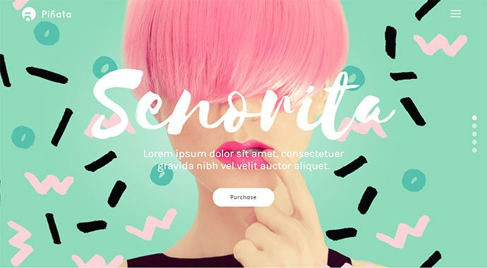 Pinata - 30+ Fullscreen Slider Portfolio WordPress Themes [year]