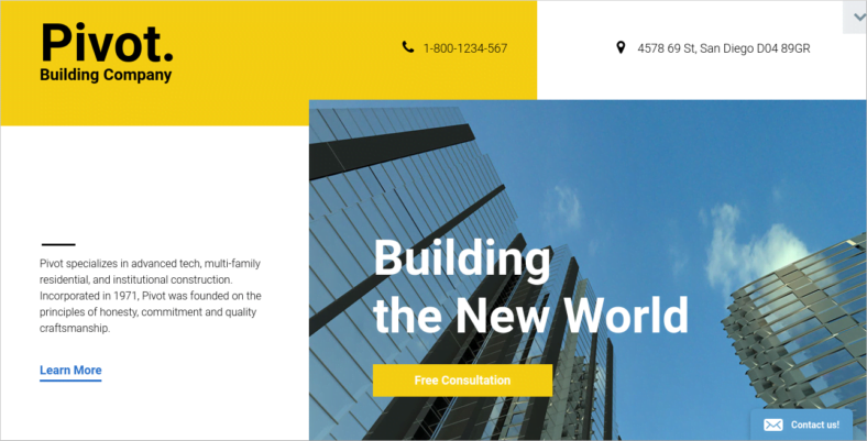 Pivot - 41+ Awesome Parallax Landing Page Themes [year]