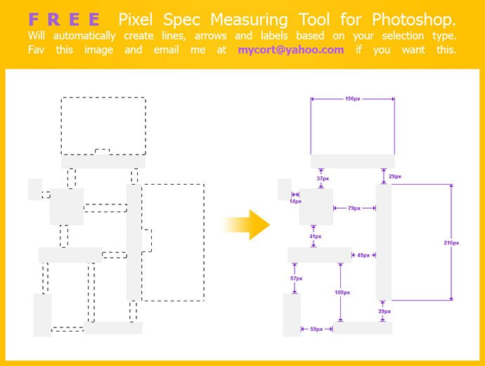 Pixel-Spec-Measuring-Script-for-Photoshop - 41+ Necessary Free Photoshop Plugins & Actions For Designer [year]