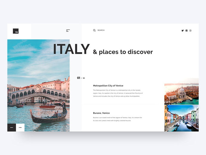 Places-to-Discover - 46+ Free Inspiration of Travel Web UI Designs [year]