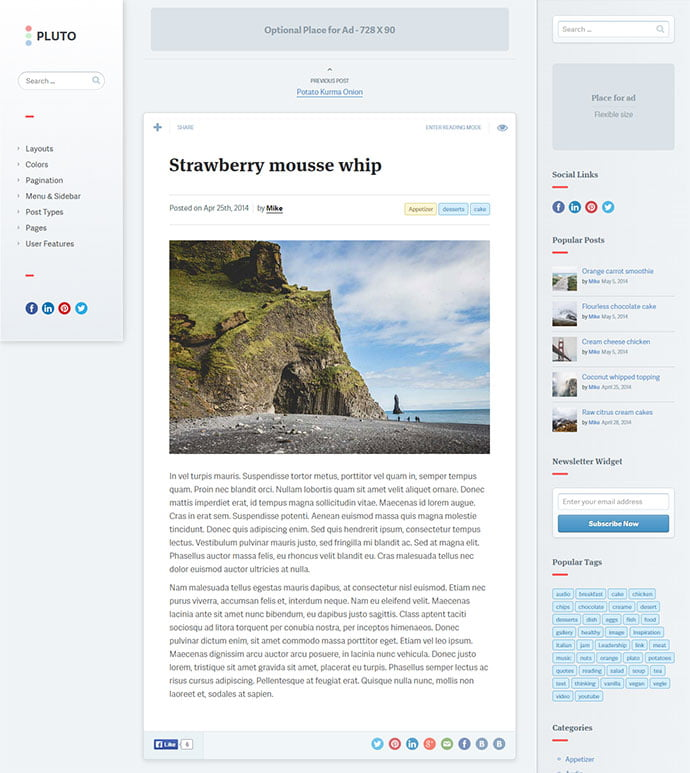 Pluto - 45+ Magazine & Blog WordPress Themes To Make Your Website [year]