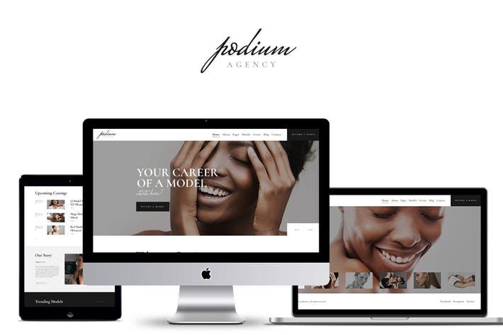 Podium - 50+ Best Portfolio WordPress Theme Design [year]