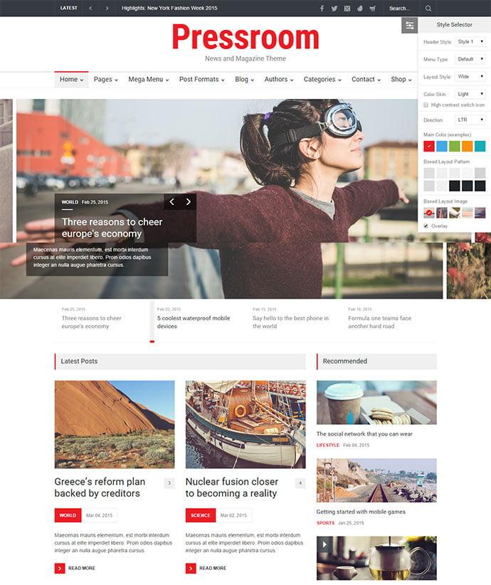 Pressroom - 45+ Magazine & Blog WordPress Themes To Make Your Website [year]