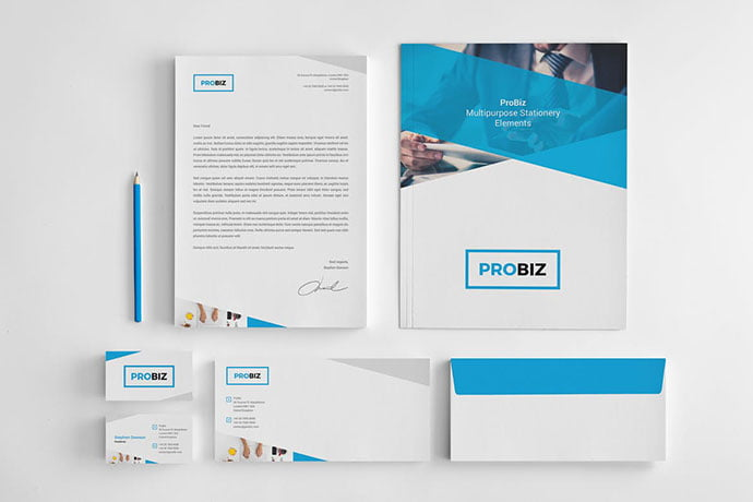 ProBiz - 35+ Remarkable Stationery Branding Design Templates [year]