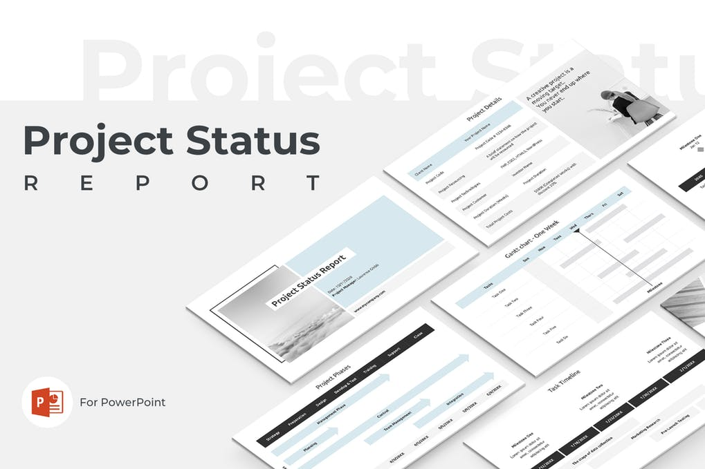 Project-Status - 35+ Attractive Annual Report Powerpoint Templates [year]