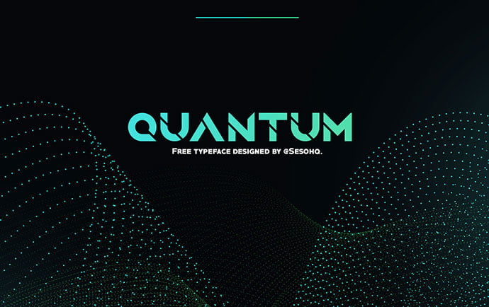 Quantum - 35+ Fantastic Science Fiction & Fantasy Fonts For You [year]