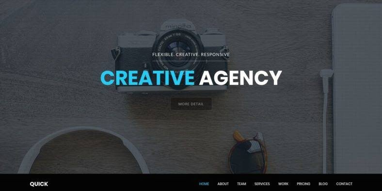 Quick - 36+ Best One Page Modern and Creative HTML Templates [year]