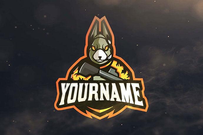 Rabbit-Sport-and-Esports-Logos - 60+ Personal & Team Branding AI & EPS eSports Logo Templates [year]