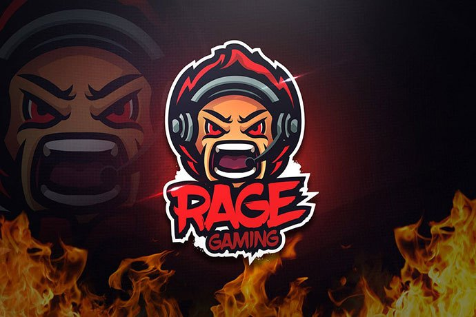 Rage-Gaming - 60+ Personal & Team Branding AI & EPS eSports Logo Templates [year]