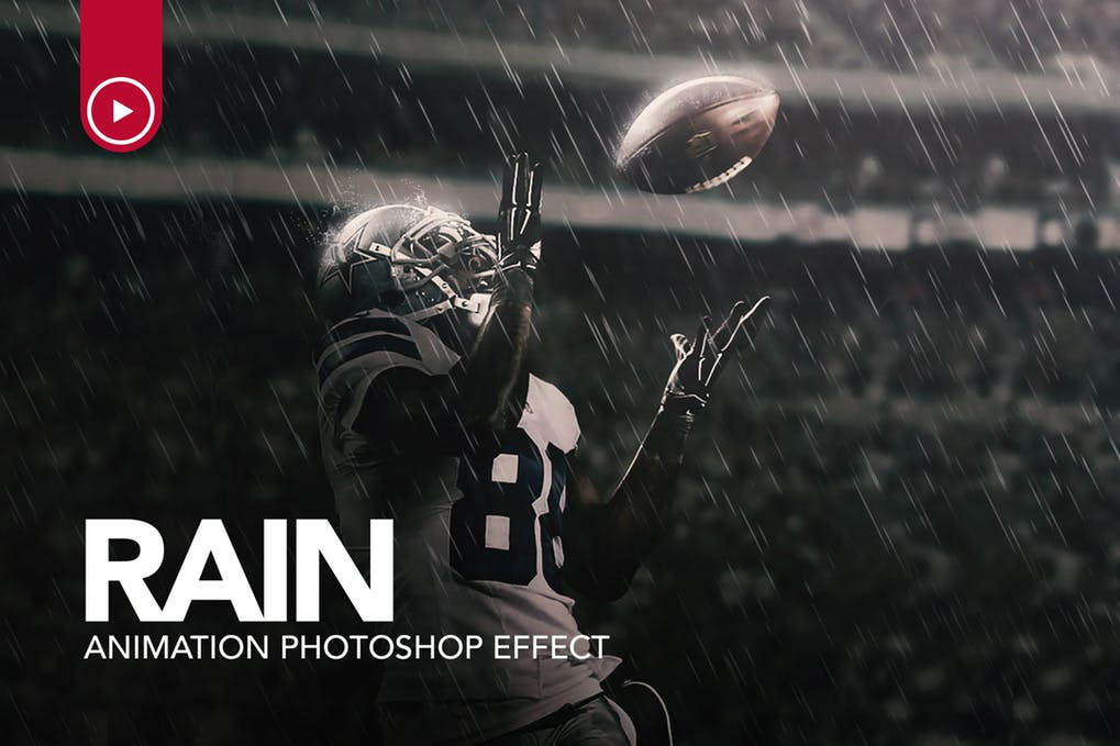 Rain - 35+ Awesome Animated GIF Photoshop Actions [year]