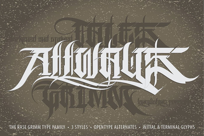 Rase-Grimm - 30+ Marvelous Gothic Blackletter Fonts [year]