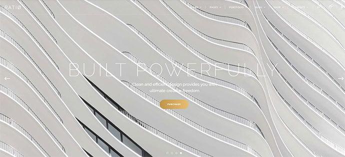 Ratio - 36+ Amazing WordPress Themes For Architect Portfolio [year]