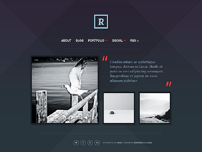 Ravel - 61+ Free Creating Responsive WordPress Themes [year]