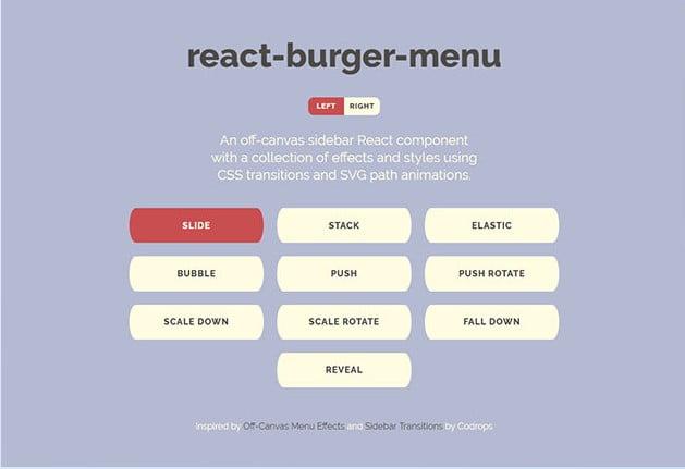 React-burger-menu - 31+ Important Javascript Navigation Menu Libraries [year]
