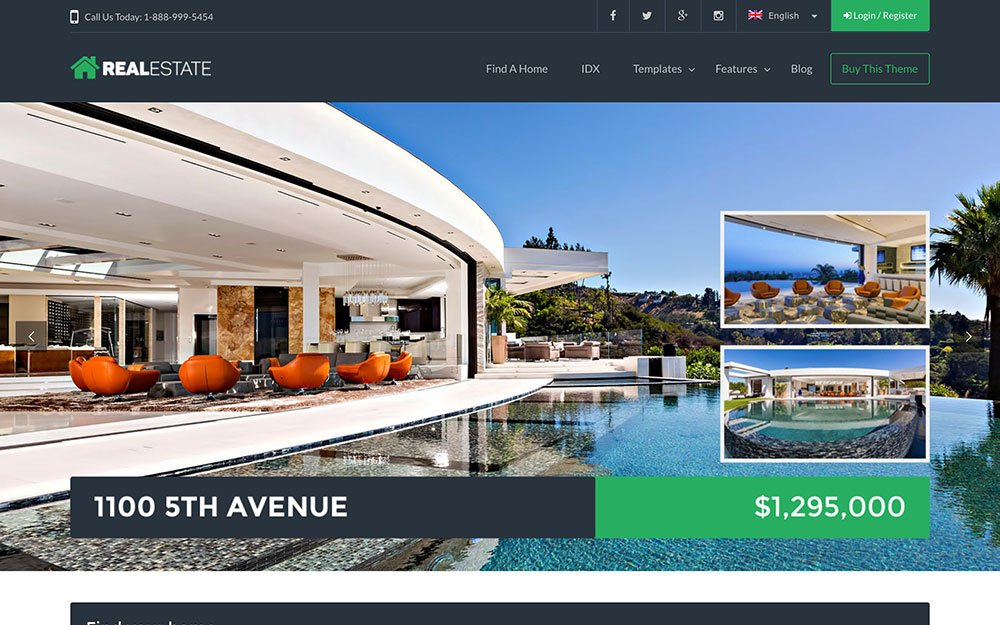 Real-Estate-7 - 36+ Best WordPress Real Estate Themes [year]
