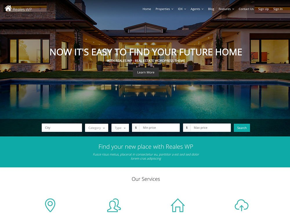 Reales - 36+ Best WordPress Real Estate Themes [year]
