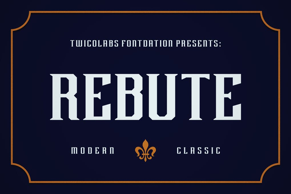 Rebute - 51+ All Caps Fonts For Your Unique Personality Headline Website [year]