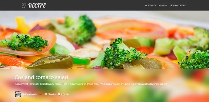 Recipe - 36+ Delicious Cooking Idea Share WordPress Themes [year]