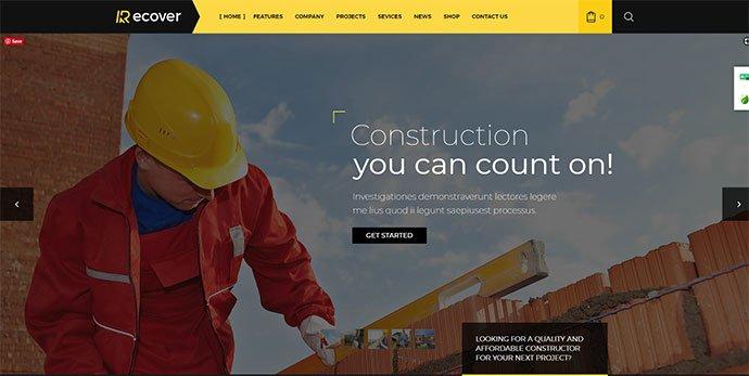 Recover - 36+ Amazing WordPress Themes For Architect Portfolio [year]