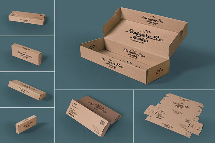 Rectangular - 60+ Delicious Food Packaging PSD Mockup Design Templates [year]