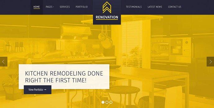 Renovation - 36+ Amazing WordPress Themes For Architect Portfolio [year]