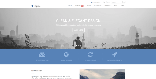 Repute - 36+ Best One Page Modern and Creative HTML Templates [year]